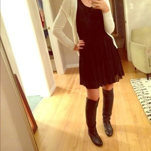 Knee High Black Leather Boots - 7.5