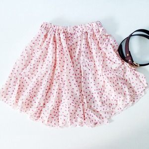 LAST ONE!  NEW! Pink floral skirt
