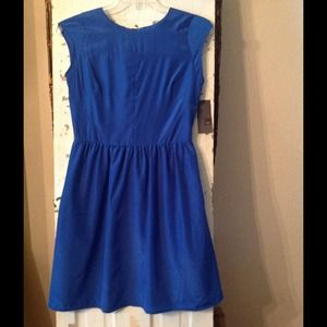 Great royal blue summer fit & flare dress.