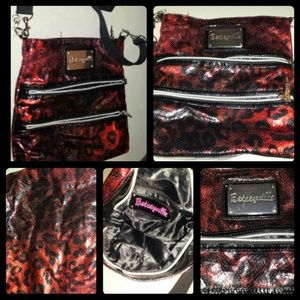 [ Betseyville Red & Black Leopard Print Purse ]