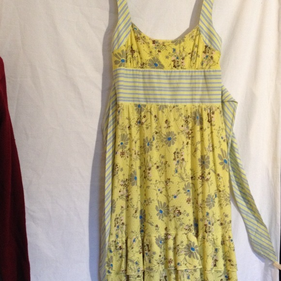 Free People Dresses   Skirts - ✨SUMMER SALE✨ Free People yellow floral  sundress 7b1e28997