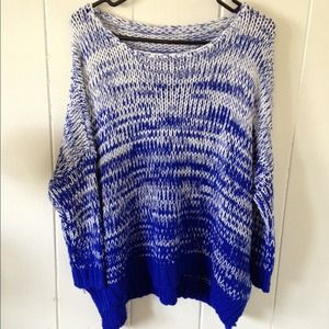 Ombre Hi-Lo Batwing Sweater