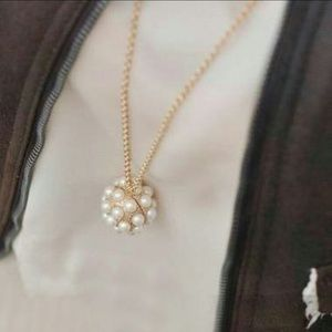 Jewelry - *FINAL SALE!* Pearl Ball Pendant Necklace