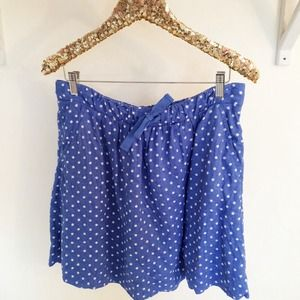 J. Crew Dresses & Skirts - Blue Polka Dot Skirt
