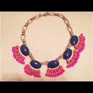 J.Crew Mulit colored Fan Fringe Necklace