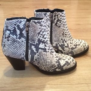 TopShop Ambush Snake Pattern Ankle Boot