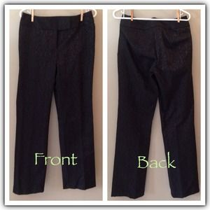 INC black designed trouser pants  size 6 NEW