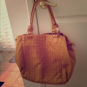 Mustard yellow hobo bag