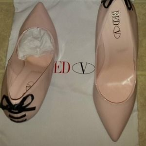 Valentino Shoes - RED Valentino pale Rose bowed heels
