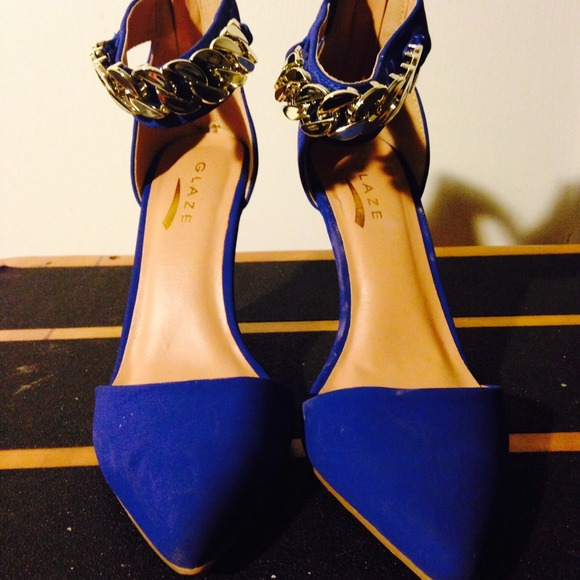 59% off Shoes - Royal blue/gold heels.Great condition,worn once ...