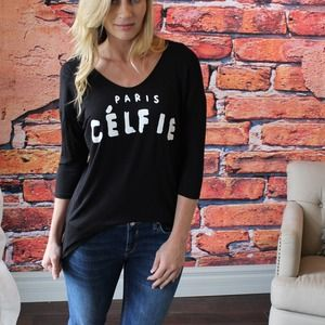 Soft black Celfie top
