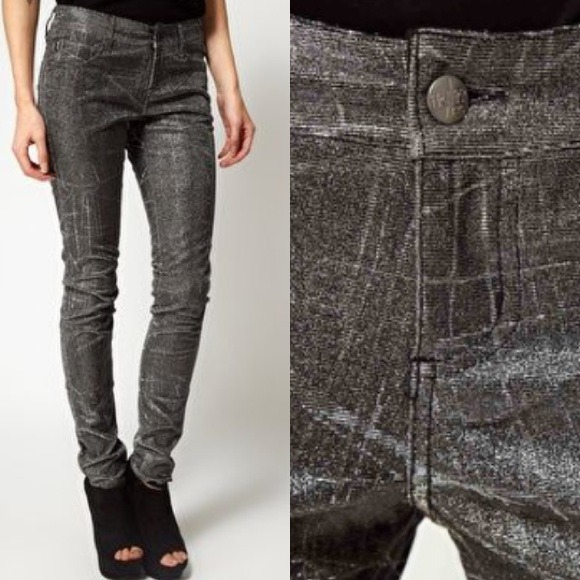 62% off Tripp NYC Pants - SALE✨Tripp NYC Shine On Metallic Skinny ...