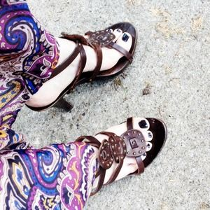 Sotto Sopra Shoes - Sotto Sopra Wooden Gladiator Sandals