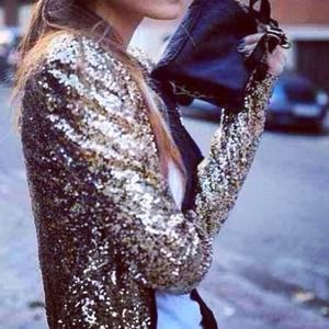 Host Pick Zara gold sequin jacket