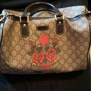 Gucci Boston bag  limited edition tattoo print