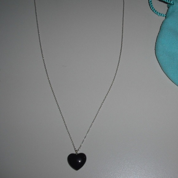9118cfcb8 Jewelry | Rare Reduced Black Onyx Tiffany Heart Necklace | Poshmark