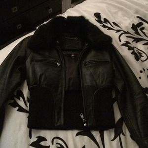 32684ae05 Knoles & carter leather jacket wit fur