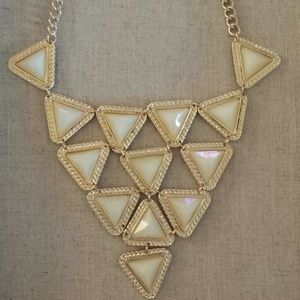 Triangle Geometric Statement Necklace Set