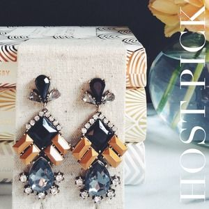 Jenna Copper & Smoke Crystal Chandelier Earrings