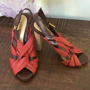 L.A.M.B leather high heels great condition