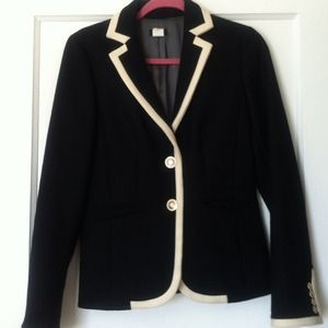 Rare J.Crew Lexington Blazer in Black/White