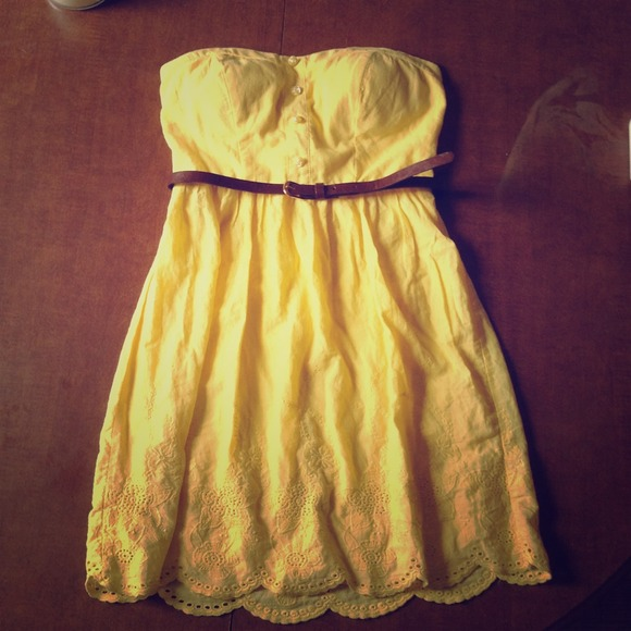 50% off Dresses & Skirts - Gorgeous strapless yellow sundress ...