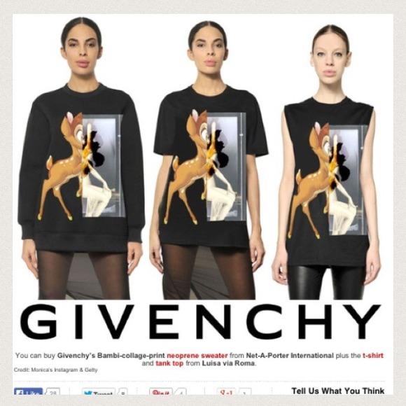 Givenchy bambi shirt