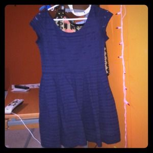 This is a navy blue summer dress