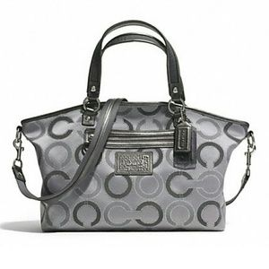 Coach Handbags - FINAL PRICE NEW Coach signature dot large satchel