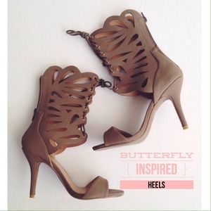 Shoes - Butterfly Ankle Wrap Heels
