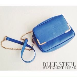 Cobalt Blue Chain Strap Purse