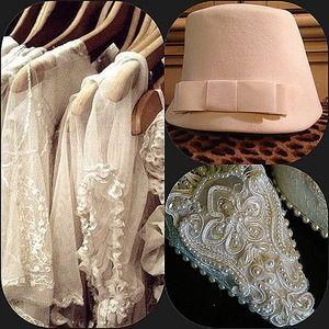 Stunning snow white vintage cloche hat