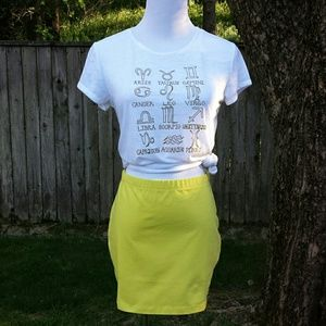 ☆HP☆ ASOS Chartreuse Mini Skirt