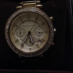 Michael Kors Chronograph gold tone watch
