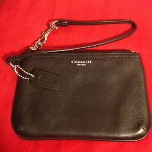 COACH Legacy Leather Wristlet 