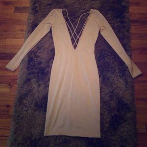 Dresses & Skirts - Nude mini dress