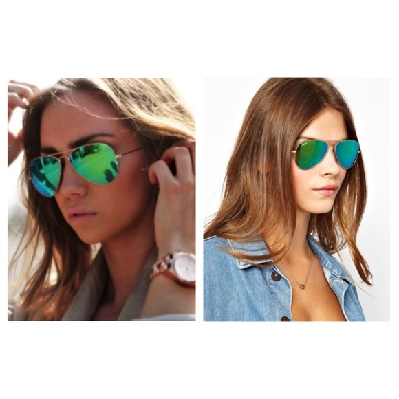Green Mirrored Ray Bans