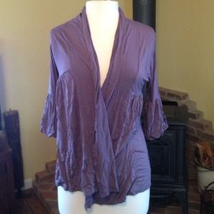 Outerwear - Purple Open Cardigan