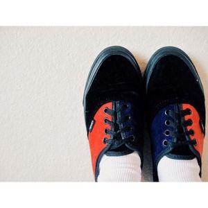 Vans All-Velvet Blue/Red/Black Classic Sneakers