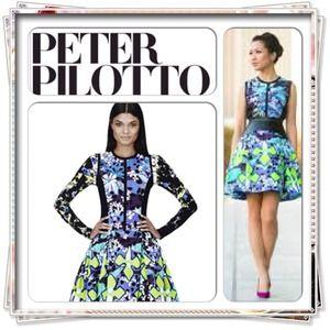 🎉Peter Pilotto Green-Purple Print LAST CHANCE