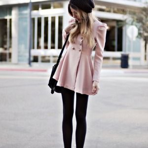 ASOS light pink pea coat