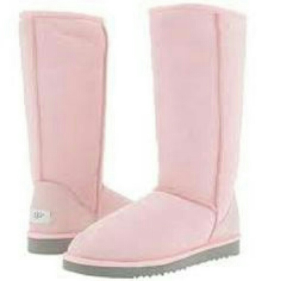 Light pink tall uggs