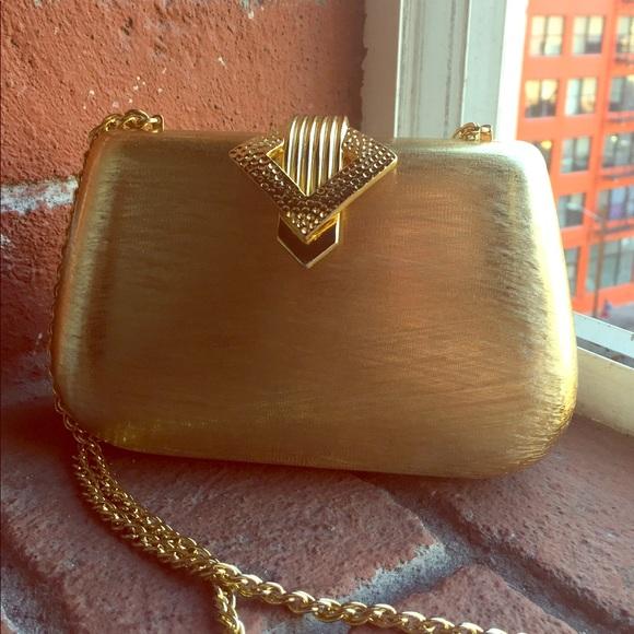 Rodo Bags   Vintage Gold Chain Hard Mini Purse   Poshmark 394bde1682