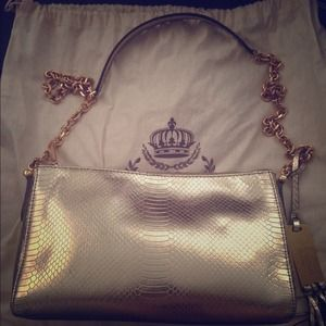 Ralph Lauren gold shoulder bag.