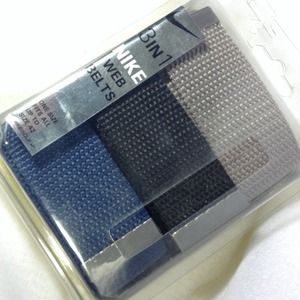 3-In-1 NIKE Web Belts (gray, black & blue)