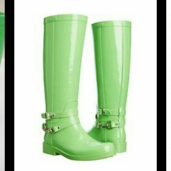 55% off Coach Shoes - Reduced New Coach LORI lime green rainboots ...