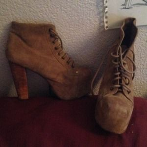 Jeffrey Campbell Shoes - Jeffery Campbell Tan Litas!!!!