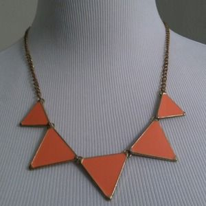 Coral triangle statement necklace