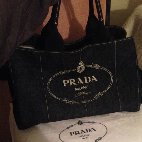 45% off Prada Handbags - Sold!! Authentic Prada denim shopping ...