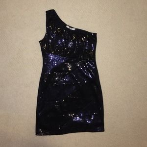 Dresses & Skirts - Blue and black sequin dress